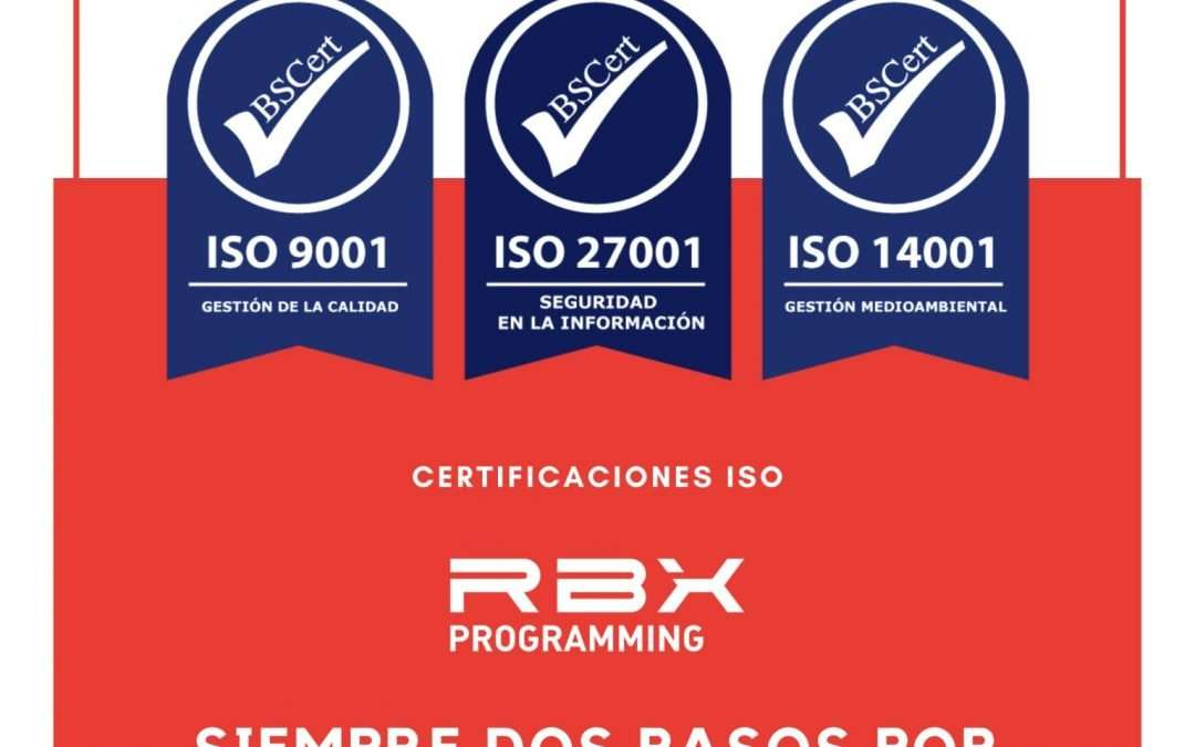 RBX ISO Certificates